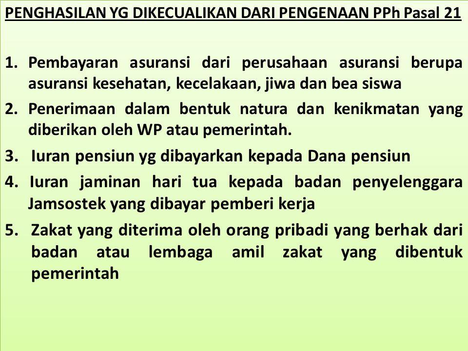 KASUS -2 PPH PASAL 21 GAJI DENGAN PREMI JAMINAN Budiman bekerja pada PT.