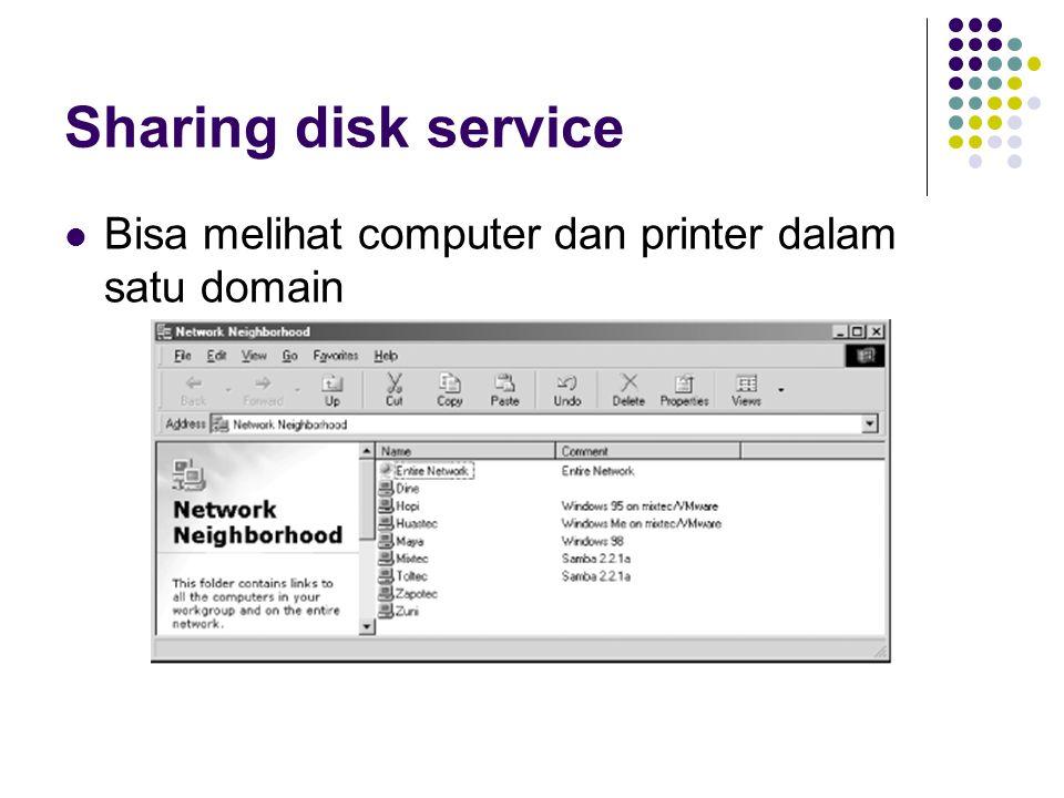 Windows Melakukan drive mapping ke Linux Bisa melakukan mapping printer dan folder