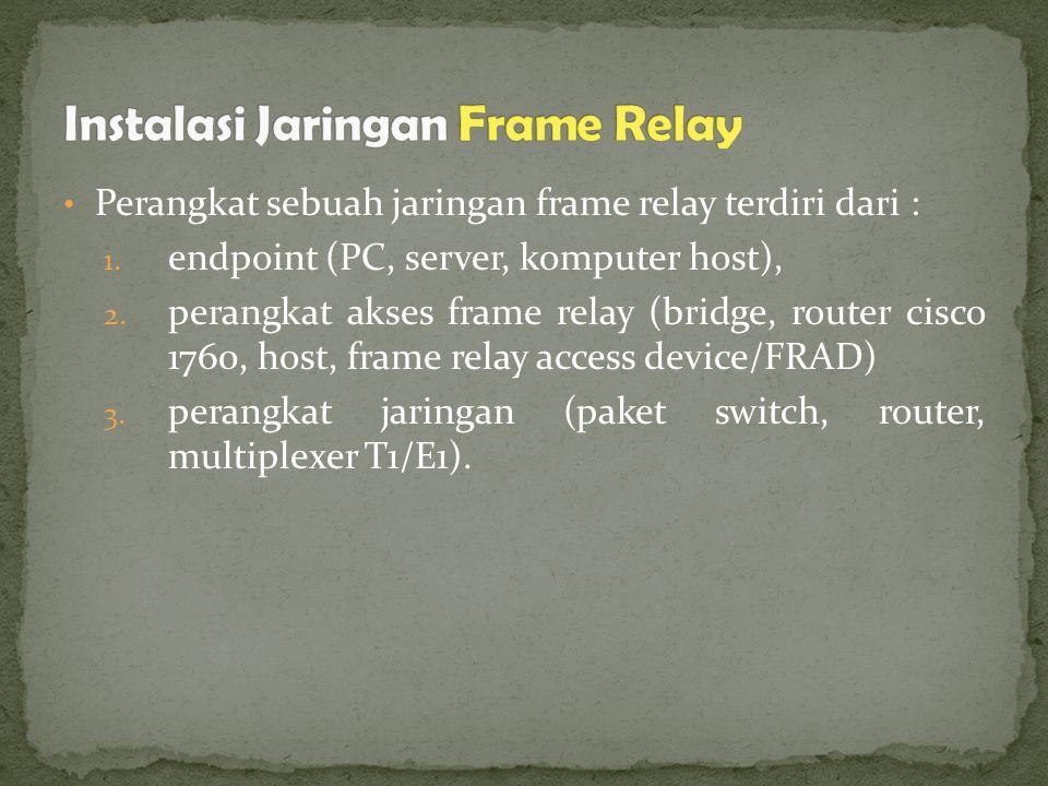 Perangkat sebuah jaringan frame relay terdiri dari : 1.