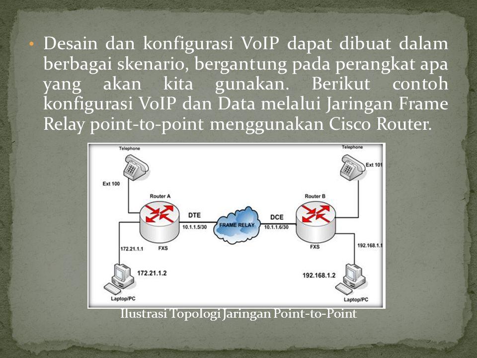 Desain dan konfigurasi VoIP dapat dibuat dalam berbagai skenario, bergantung pada perangkat apa yang akan kita gunakan.