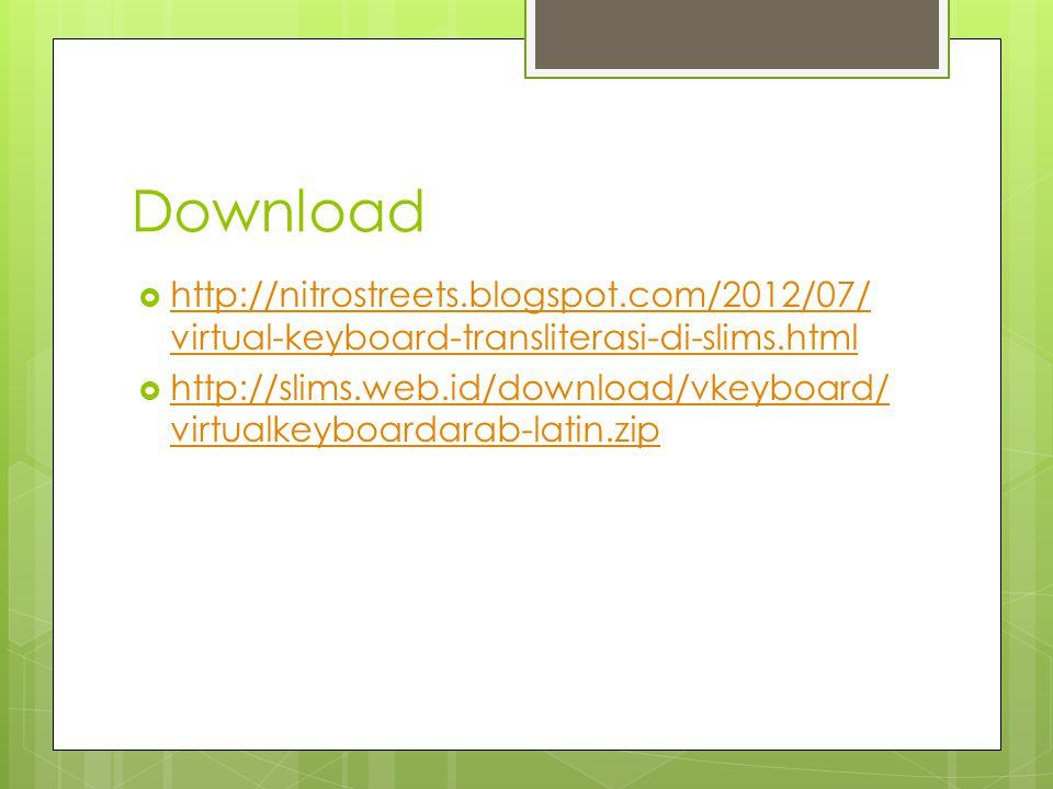 Download  http://nitrostreets.blogspot.com/2012/07/ virtual-keyboard-transliterasi-di-slims.html http://nitrostreets.blogspot.com/2012/07/ virtual-ke