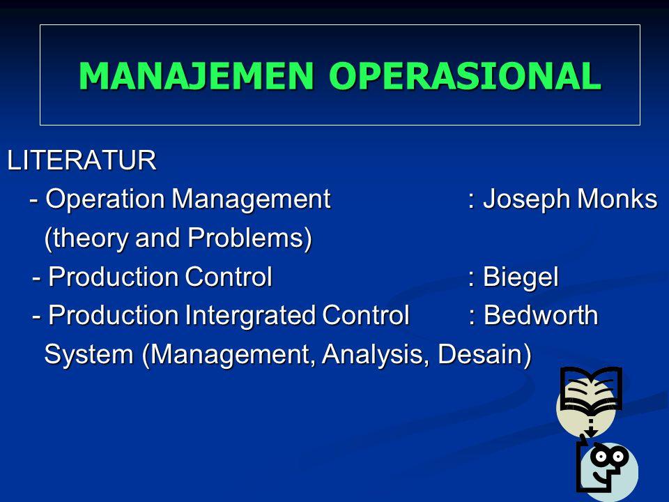 LITERATUR - Operation Management : Joseph Monks - Operation Management : Joseph Monks (theory and Problems) (theory and Problems) - Production Control