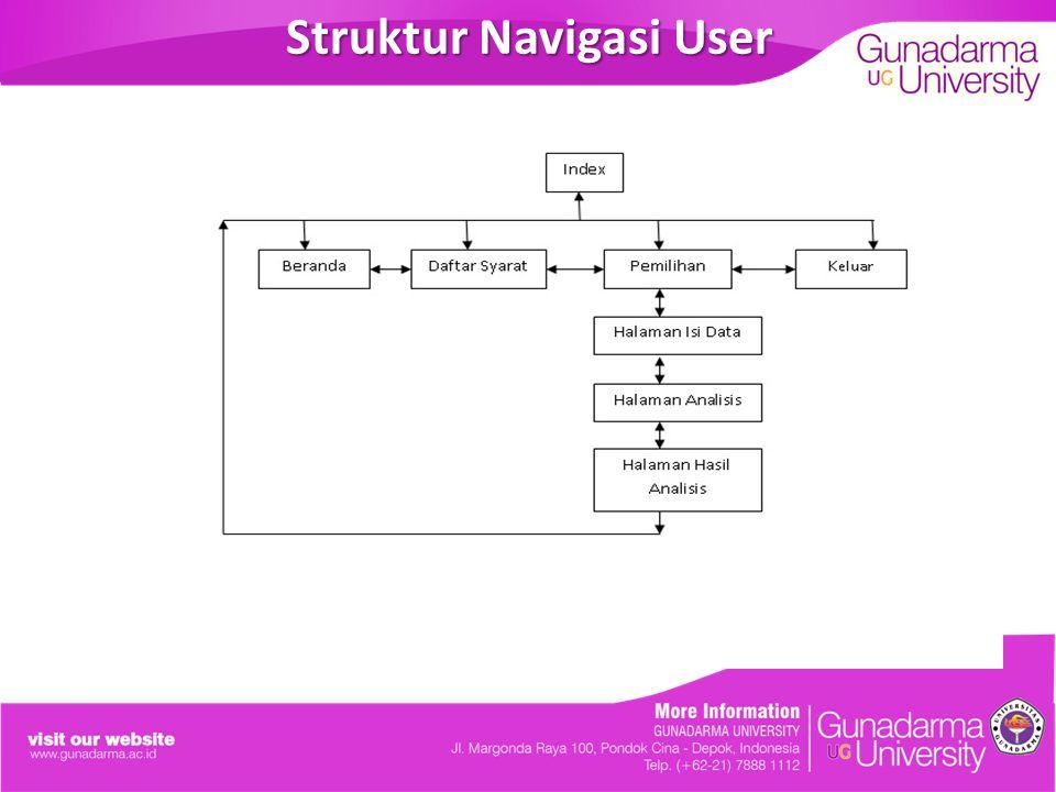 Struktur Navigasi User