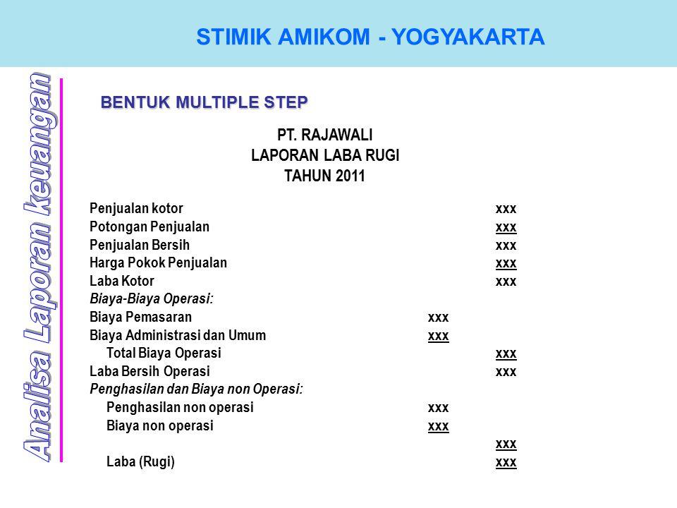 STIMIK AMIKOM - YOGYAKARTA BENTUK MULTIPLE STEP PT.