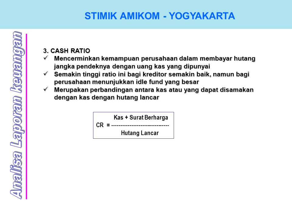 STIMIK AMIKOM - YOGYAKARTA 3.