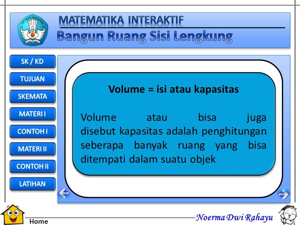Noerma Dwi Rahayu Home VOLUME KERUCUT Pengertian volume