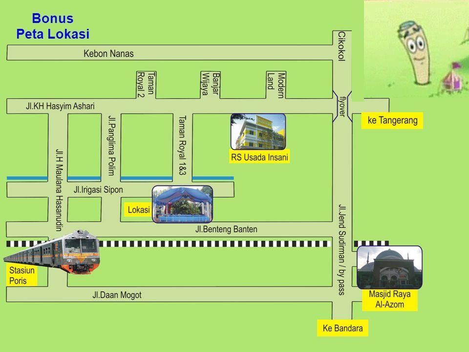 Walimatul Ursy Ahad, 3 April 2011 Pukul 13.00 S.D. 16.00 WIB di Rumah Keluarga Achmad Solihin Jl.Irigasi Sipon (Taman Royal 1&3) No.107 RT04/02 Poris