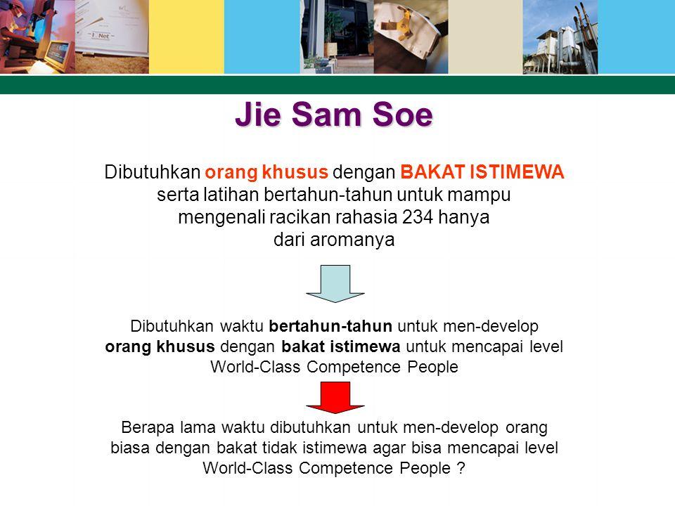 Jie Sam Soe Dibutuhkan orang khusus dengan BAKAT ISTIMEWA serta latihan bertahun-tahun untuk mampu mengenali racikan rahasia 234 hanya dari aromanya D