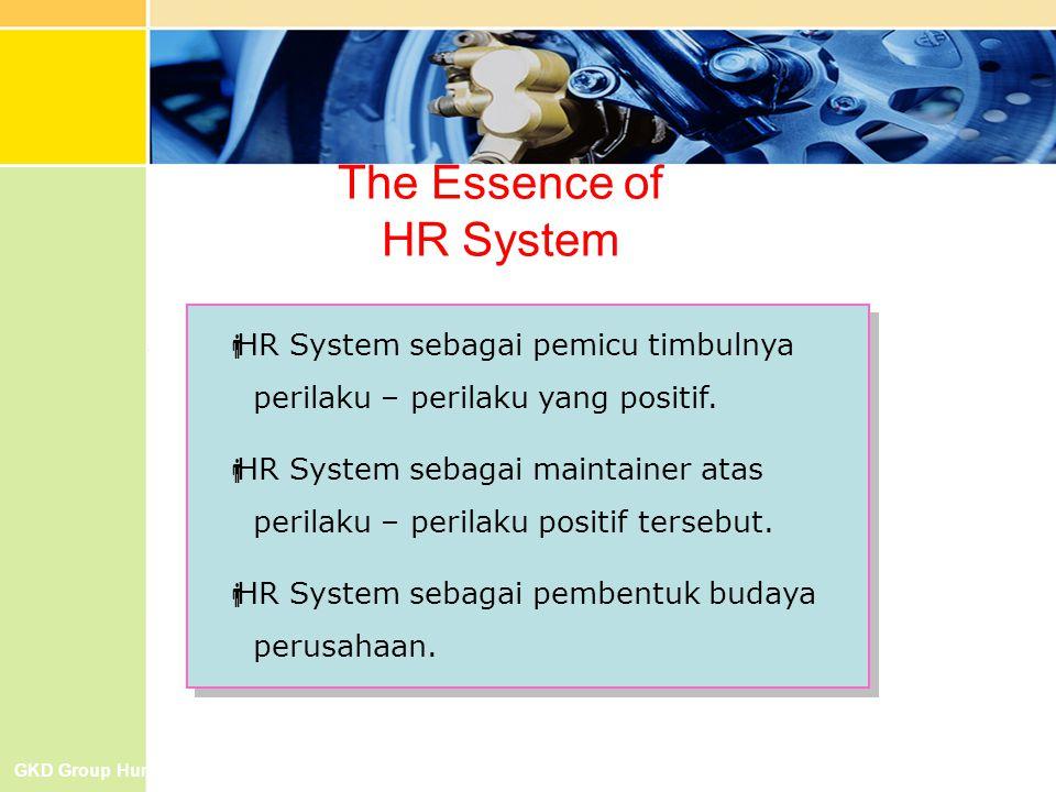 The Essence of HR System  HR System sebagai pemicu timbulnya perilaku – perilaku yang positif.  HR System sebagai maintainer atas perilaku – perilak