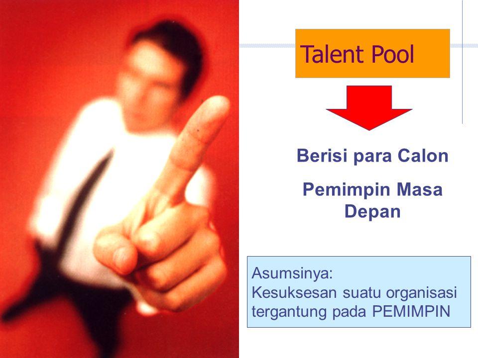Talent Pool Berisi para Calon Pemimpin Masa Depan Asumsinya: Kesuksesan suatu organisasi tergantung pada PEMIMPIN