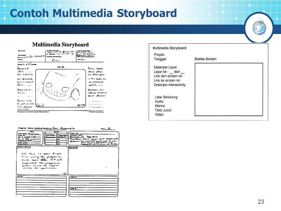23 Contoh Multimedia Storyboard