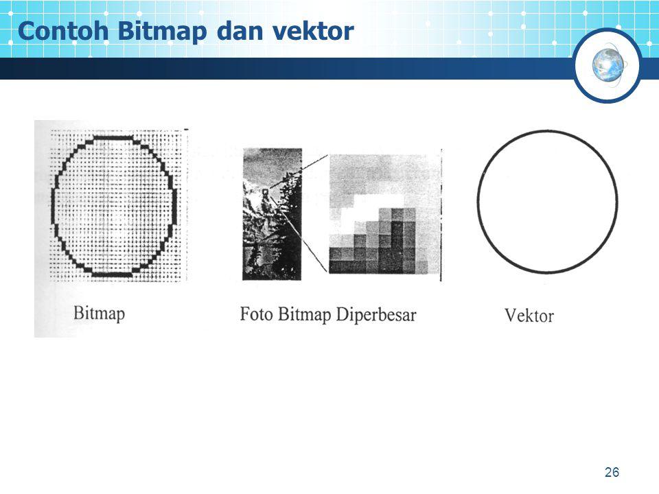 26 Contoh Bitmap dan vektor