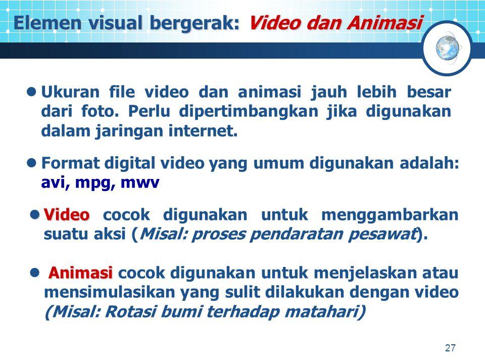 28 Pada multimedia, penggunaan suara dapat berbentuk narasi, lagu, dan sound effect.