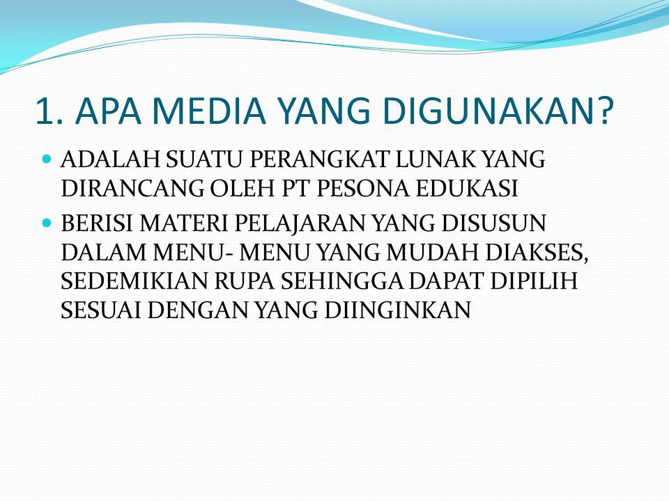 2.MENGAPA MENGGUNAKAN MEDIA TERSEBUT.