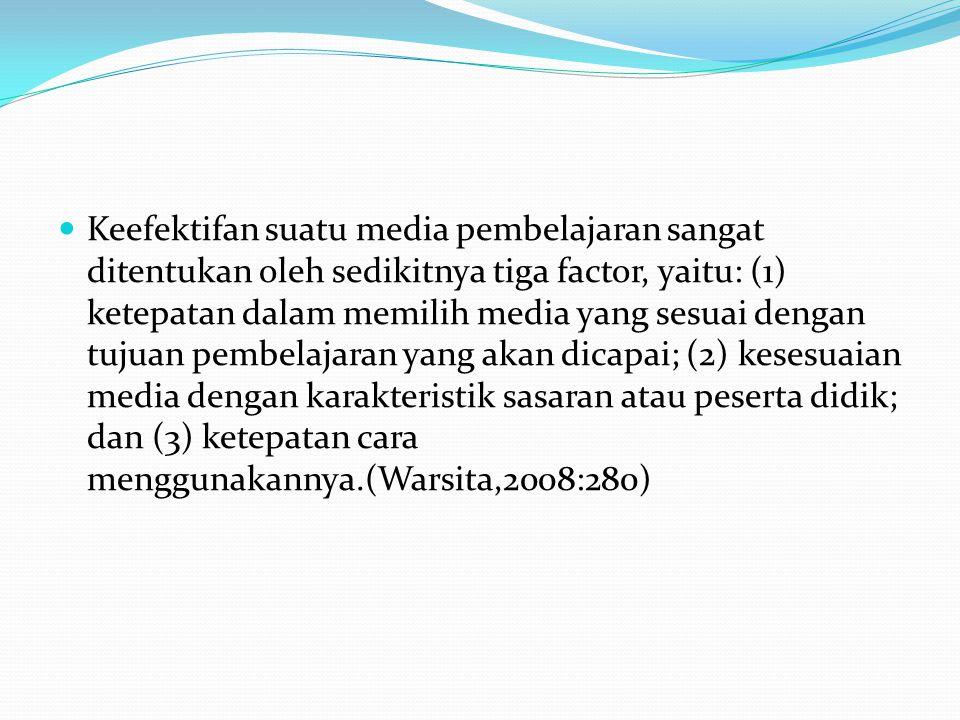 Menurut Sadiman (2002:16), media pembelajaran mempunyai kegunaan-kegunaan sebagai berikut: Memperjelas penyajian pesan agar tidak terlalu bersifat verbalistis (dalam bentuk kata-kata tertulis atau lisan belaka).
