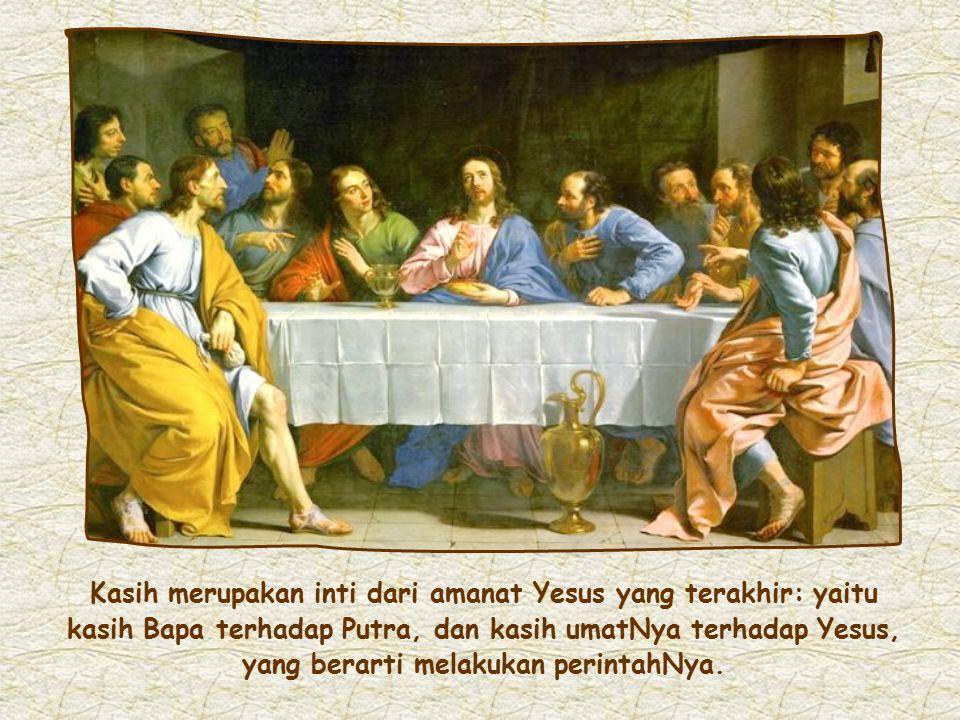 """""""Barangsiapa mengasihi Aku, ia akan dikasihi oleh Bapa-Ku dan Akupun akan mengasihi dia dan akan menyatakan diri-Ku kepadanya."""" (Gv 14:21)"""