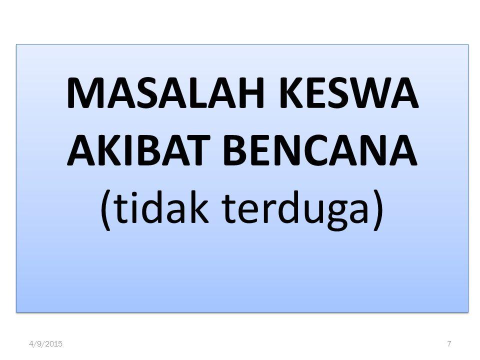 MASALAH KESWA AKIBAT BENCANA (tidak terduga) 4/9/20157