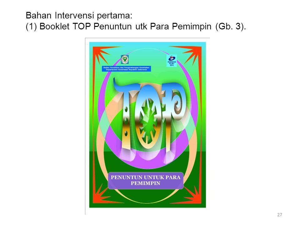Bahan Intervensi pertama: (1) Booklet TOP Penuntun utk Para Pemimpin (Gb. 3). 27
