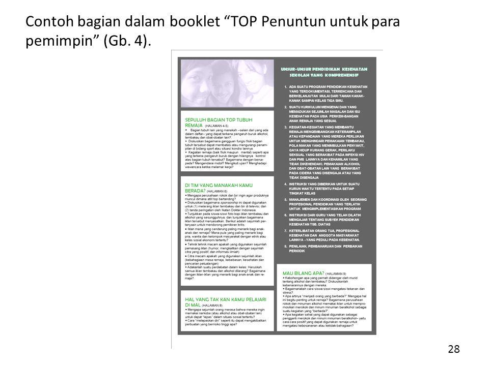 Contoh bagian dalam booklet TOP Penuntun untuk para pemimpin (Gb. 4). 28