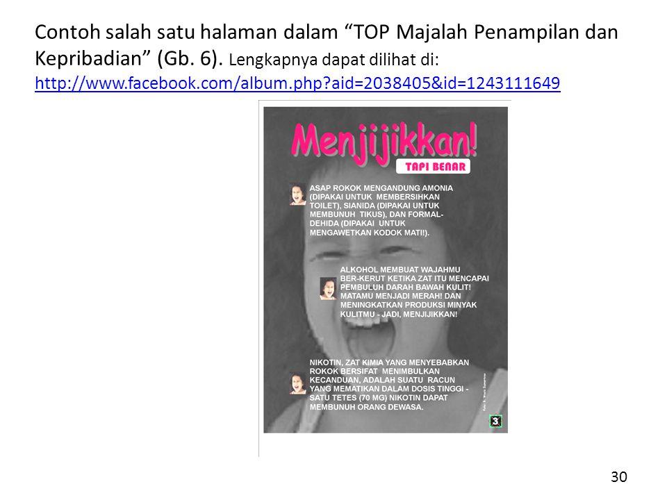 Contoh salah satu halaman dalam TOP Majalah Penampilan dan Kepribadian (Gb.