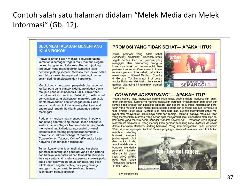 Contoh salah satu halaman didalam Melek Media dan Melek Informasi (Gb. 12). 37