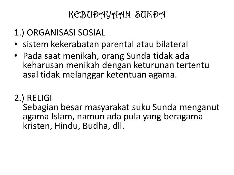KEBUDAYAAN SUNDA 3.)Unsur-unsur budaya Bahasa yaitu : 1.) Bahasa Sunda lemes (halus).