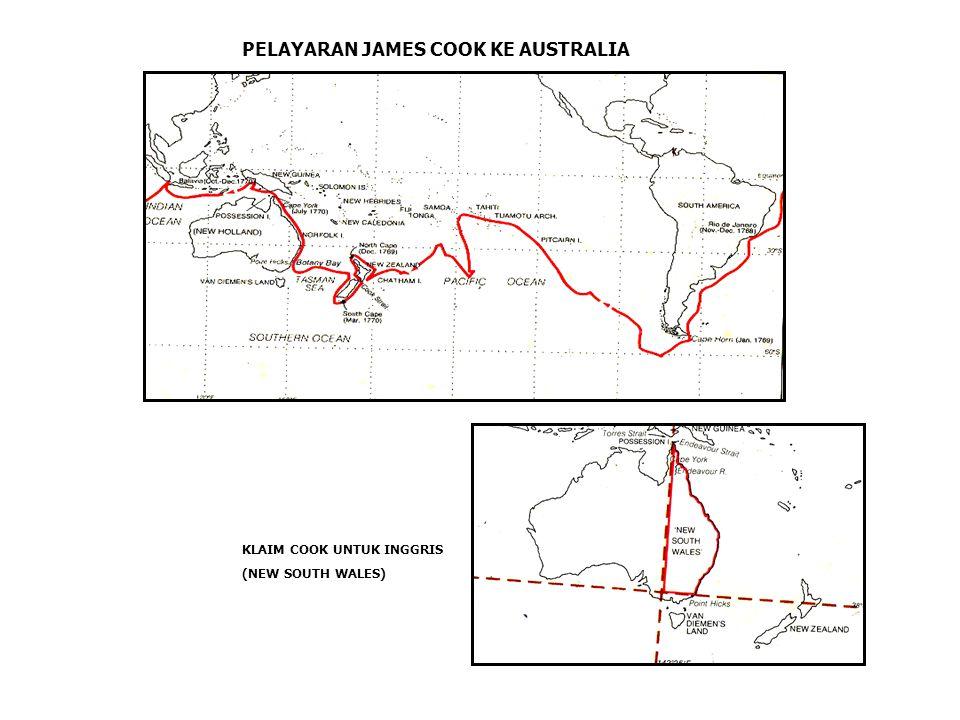 PELAYARAN JAMES COOK KE AUSTRALIA KLAIM COOK UNTUK INGGRIS (NEW SOUTH WALES)