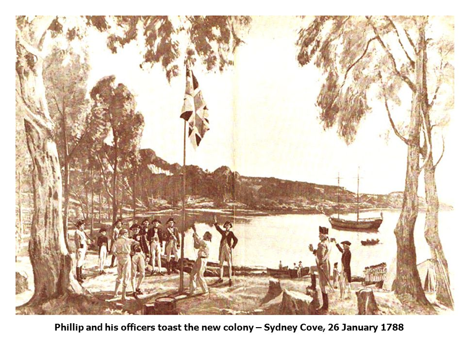 Phillip and his officers toast the new colony – Sydney Cove, 26 January 1788