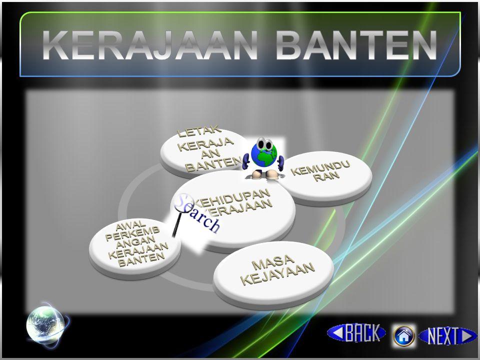 Secara geografis, Kerajaan Banten terletak di propinsi Banten.