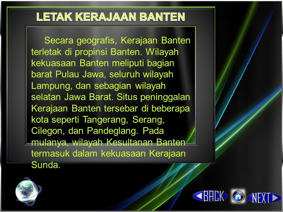 Perang saudara yang berlangsung di Banten meninggalkan ketidakstabilan pemerintahan masa berikutnya.