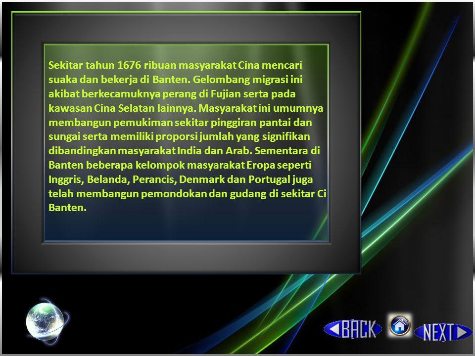 Perang saudara Sekitar tahun 1680 muncul perselisihan dalam Kesultanan Banten, akibat perebutan kekuasaan dan pertentangan antara Sultan Ageng dengan putranya Sultan Haji.