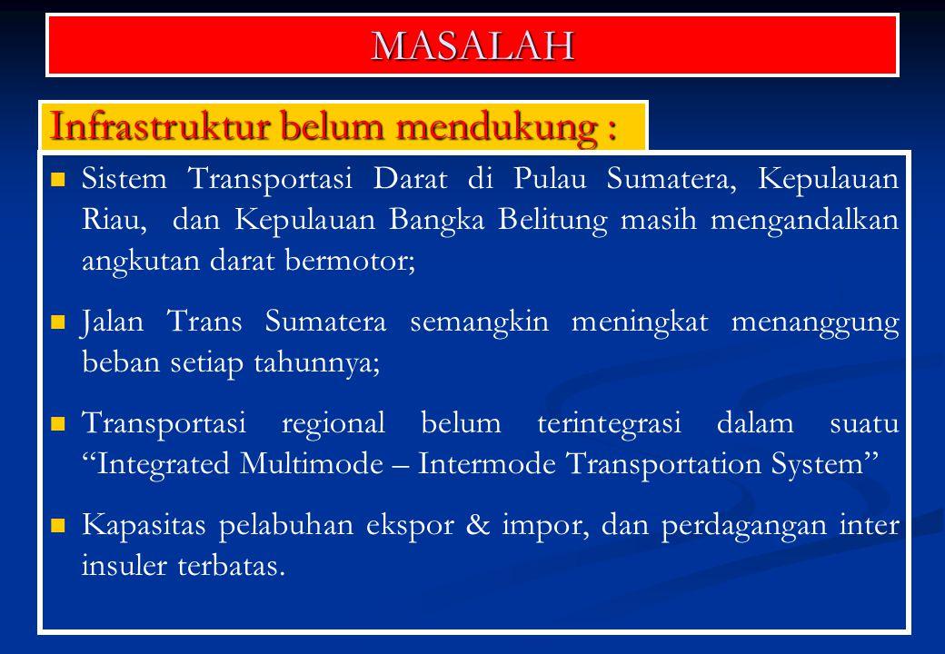SASARAN Kajian tentang Integrated Multimode – Intermode Transportation System for Sumatera, Kepulauan Riau, and Bangka Belitung .