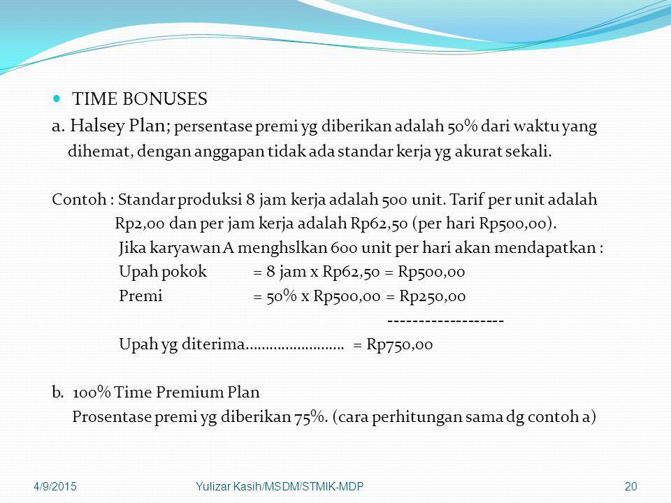 TIME BONUSES a.
