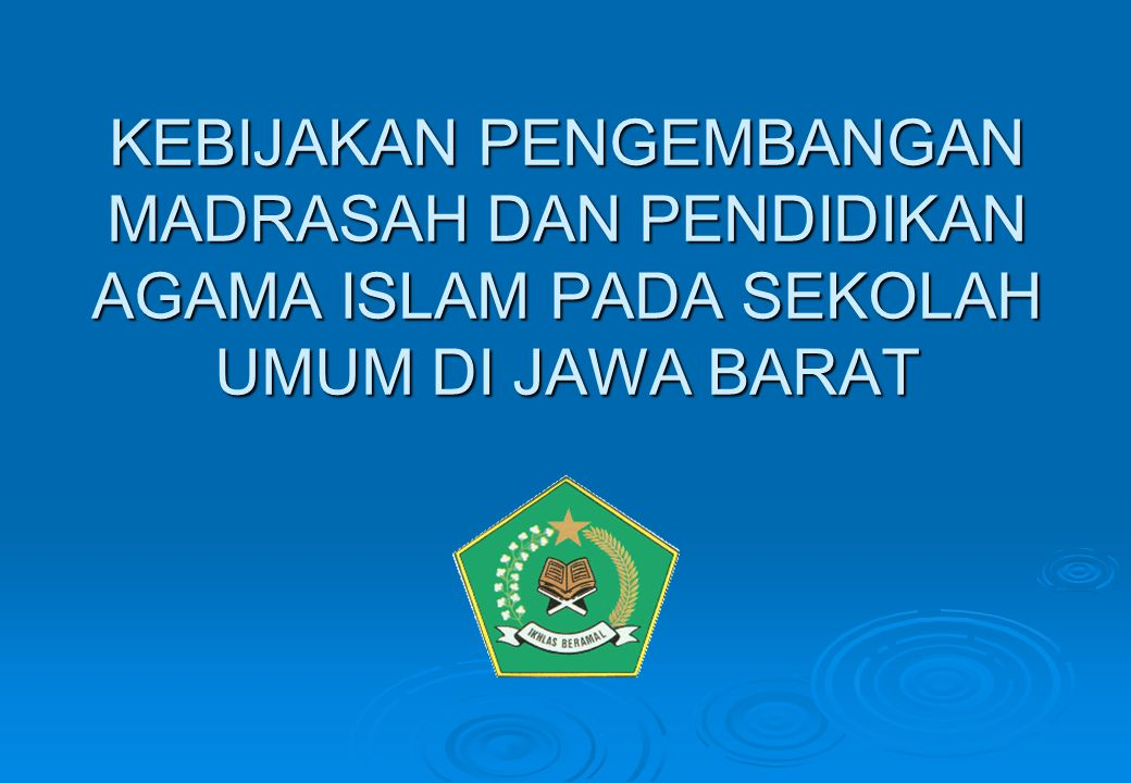 41 Lanjutan No.KOMPONENINDIKATORKETERCAPAIAN MINIMAL P *) PR *) K *) M *) 7Manajemen Madrasah 1.