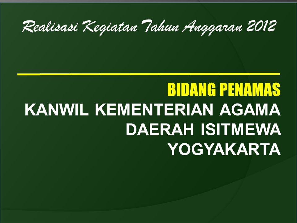 Realisasi Kegiatan Tahun Anggaran 2012 BIDANG PENAMAS KANWIL KEMENTERIAN AGAMA DAERAH ISITMEWA YOGYAKARTA