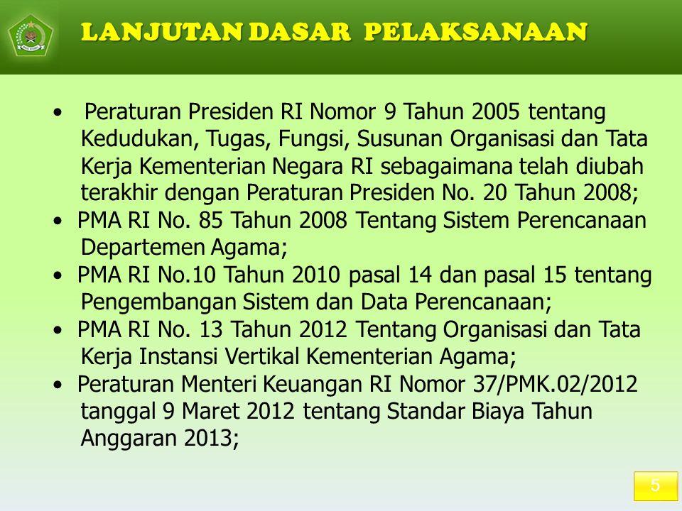 5 Peraturan Presiden RI Nomor 9 Tahun 2005 tentang Kedudukan, Tugas, Fungsi, Susunan Organisasi dan Tata Kerja Kementerian Negara RI sebagaimana telah