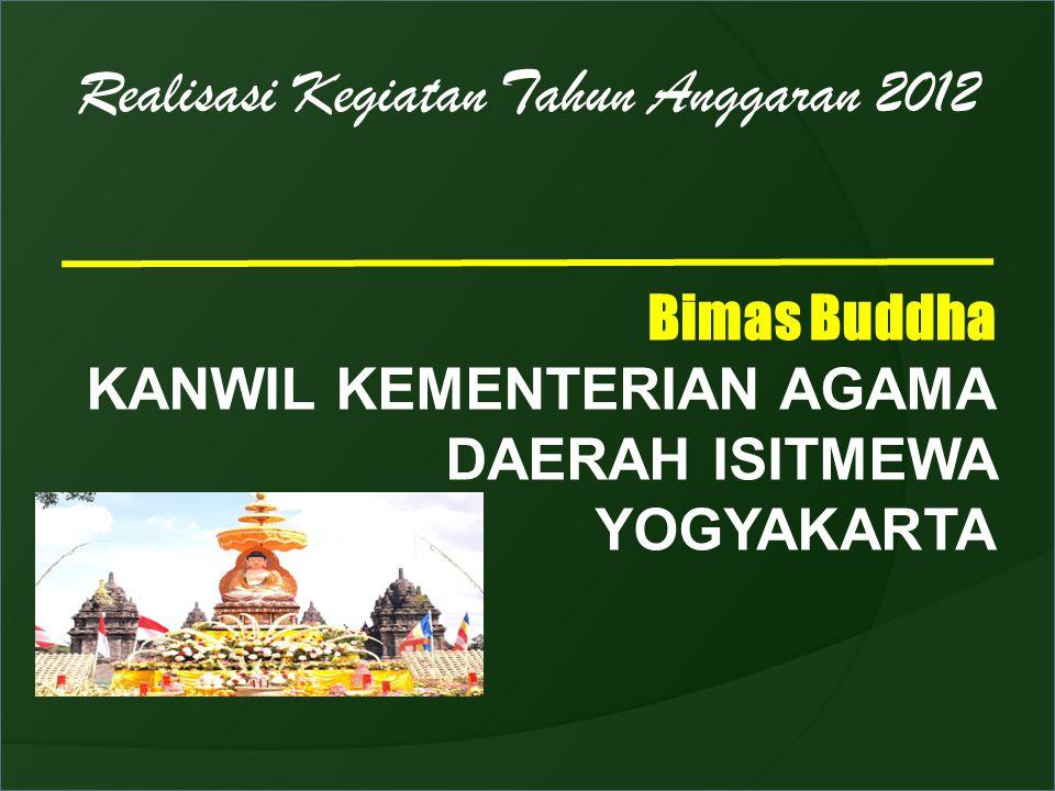 Realisasi Kegiatan Tahun Anggaran 2012 Bimas Buddha KANWIL KEMENTERIAN AGAMA DAERAH ISITMEWA YOGYAKARTA