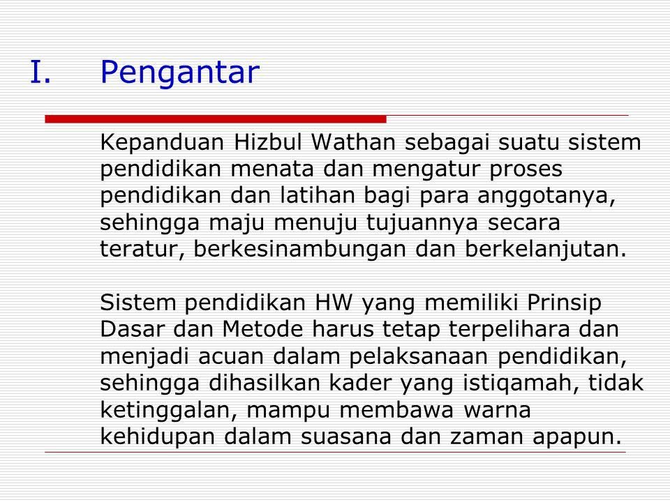 PENGEMBANGAN SISTEM KEPANDUAN HIZBUL WATHAN, SERTA HAMBATAN YANG DIHADAPI DALAM DEKADE PASCA KEBANGKITAN Oleh : Drs. H. Uun H.S.