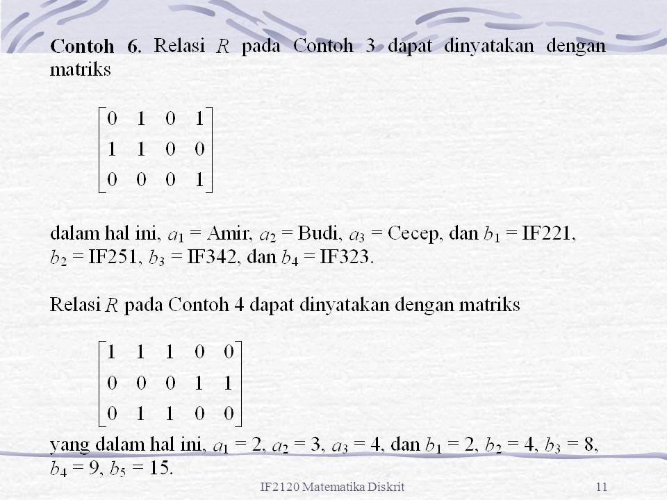 IF2120 Matematika Diskrit11