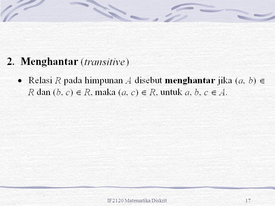 IF2120 Matematika Diskrit17