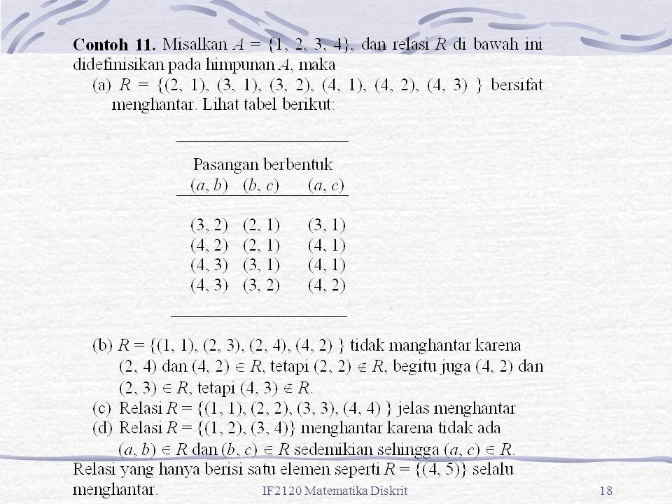IF2120 Matematika Diskrit18