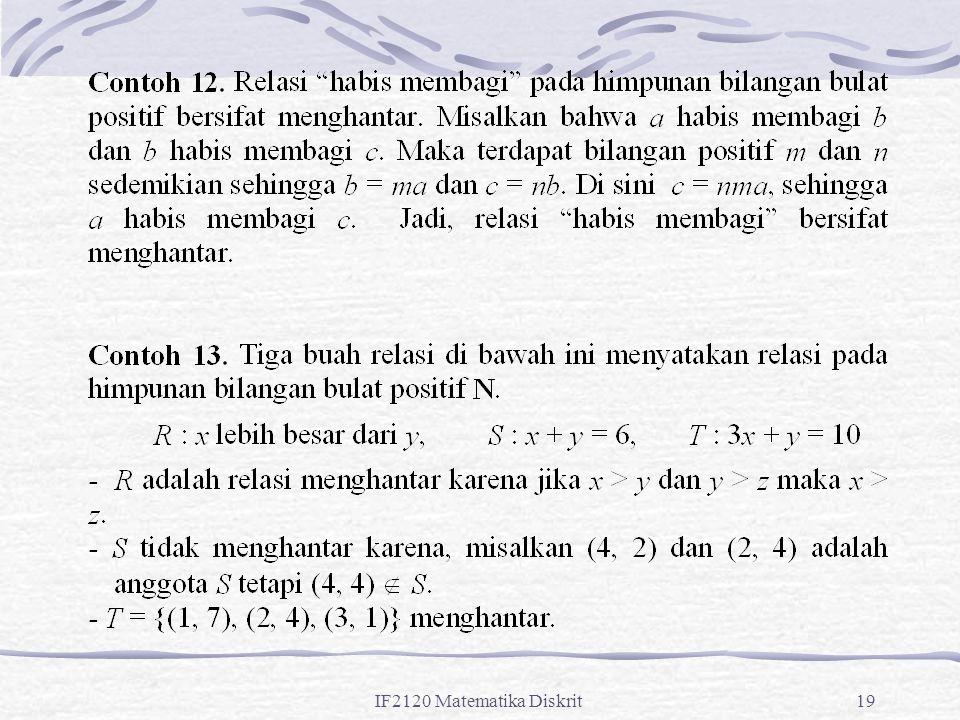 IF2120 Matematika Diskrit19