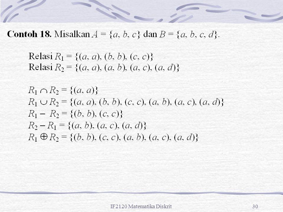 IF2120 Matematika Diskrit30