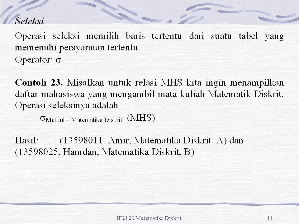 IF2120 Matematika Diskrit44