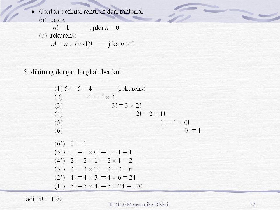 IF2120 Matematika Diskrit72