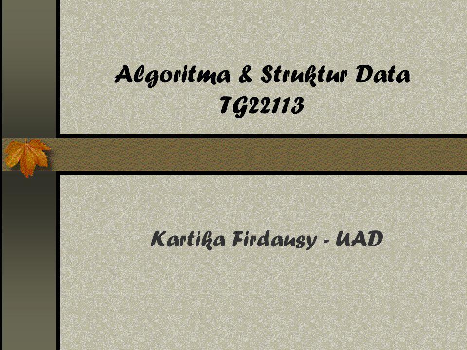Algoritma & Struktur Data TG22113 Kartika Firdausy - UAD