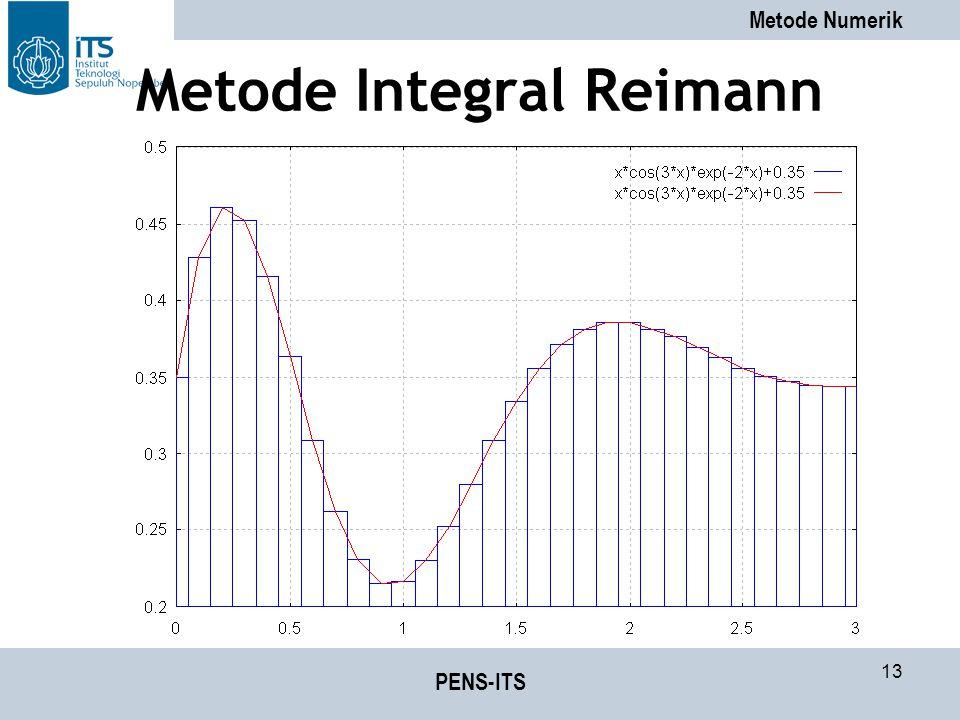 Metode Numerik PENS-ITS 13 Metode Integral Reimann