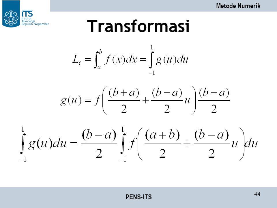 Metode Numerik PENS-ITS 44 Transformasi