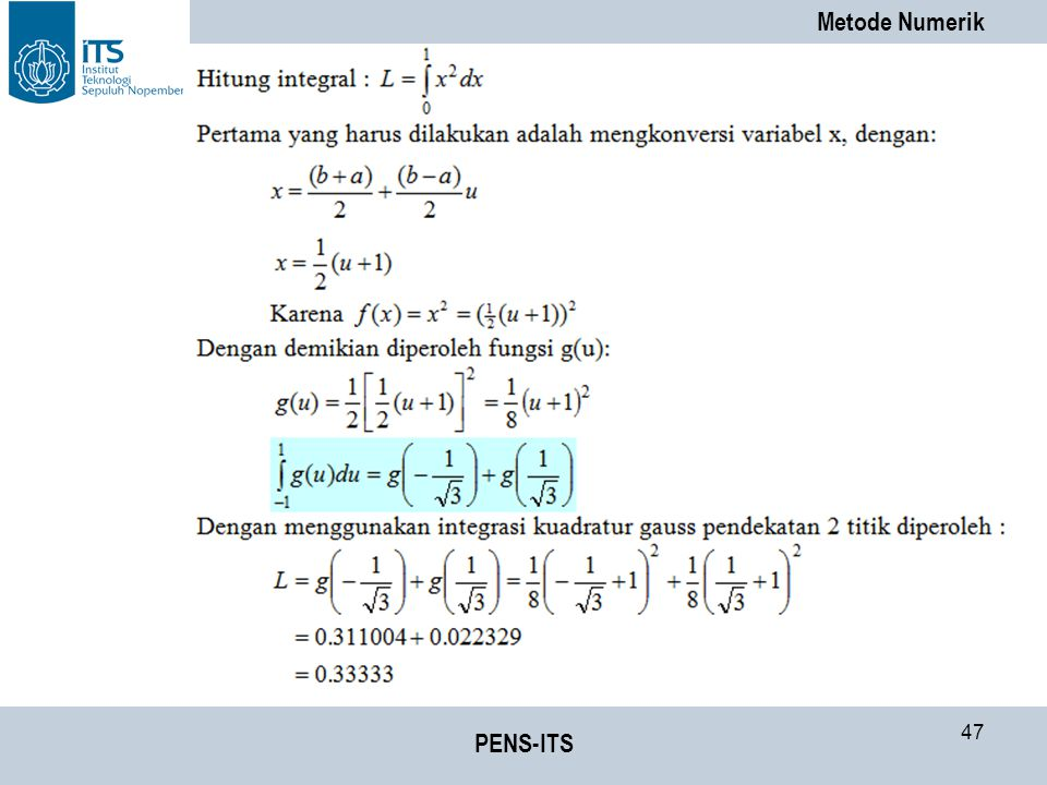 Metode Numerik PENS-ITS 47