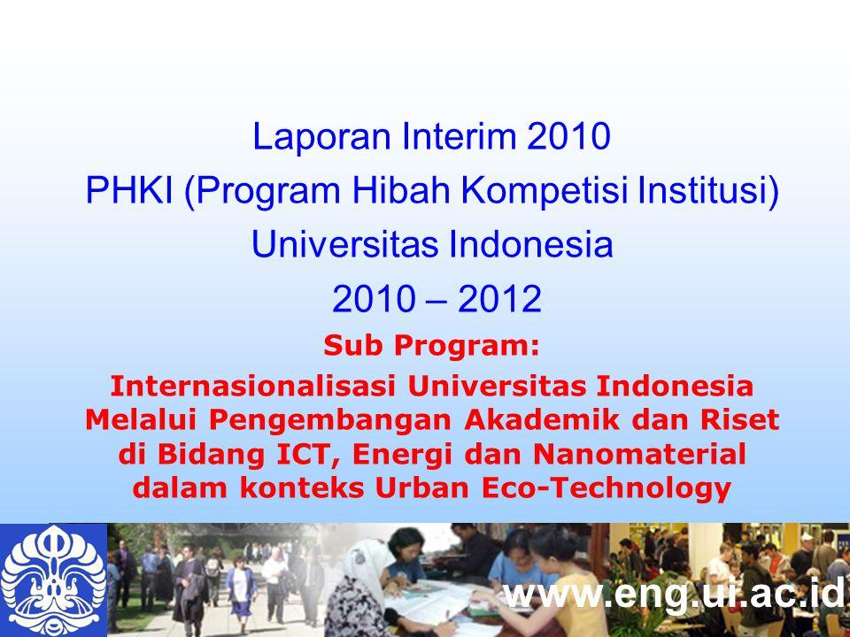 www.eng.ui.ac.id Laporan Interim 2010 PHKI (Program Hibah Kompetisi Institusi) Universitas Indonesia 2010 – 2012 Sub Program: Internasionalisasi Unive